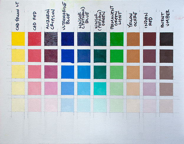 Color Chart Week 1 Image