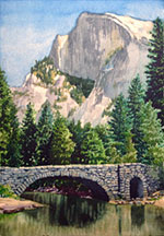 Half Dome from Stoneman Bridge Image
