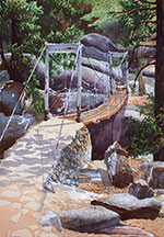 Wawona Swinging Bridge Image