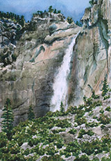 Yosemite Falls from the Village Watercolor