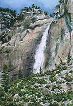 Yosemite Falls from the Village Image